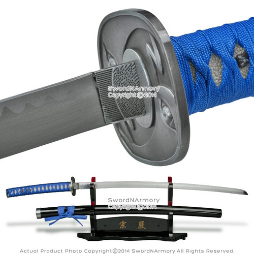 Champloo Jin Anime Katana Fantasy Samurai Sword Cosplay Blue Wrapping