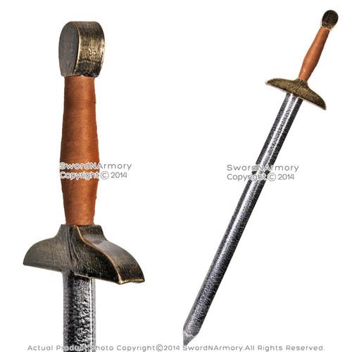 "41.5"" Fantasy Dark Knight Battle Sword Metalic LARP Foam Latex Weapon Cosplay BR"
