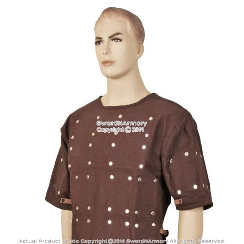 Renaissance Brigandine Medieval Steel Plated Armor Overcoat LARP Black or  Brown
