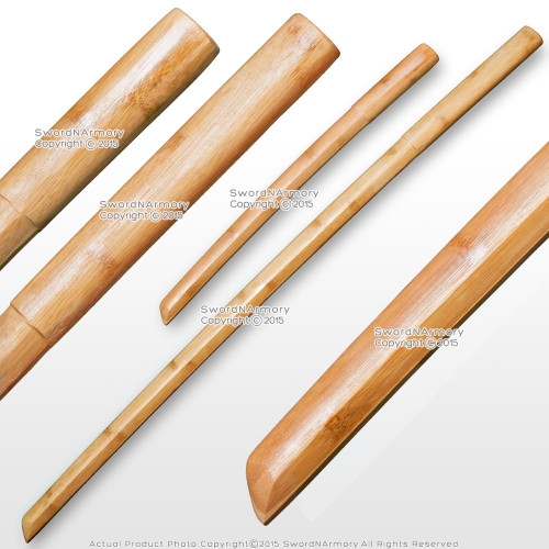 Daisho Set 2Pcs Lightweight Compressed Bamboo Bokken Bokuto Kendo Practice Sword