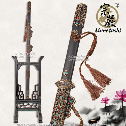 Forge Folded Handmade 8 Side Blade Chinese Sword Han Wu Jian Handcrafted Fitting