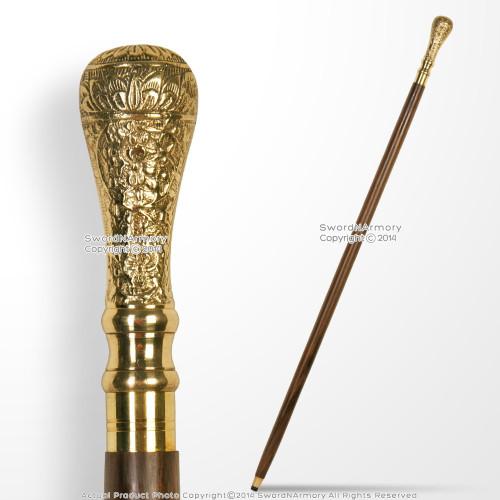 "36"" Handmade Sheesham Wood Gentleman Walking Cane"