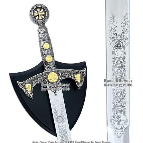 """38"""" Medieval Century Templar Knight Crusader Sword Plaq"""