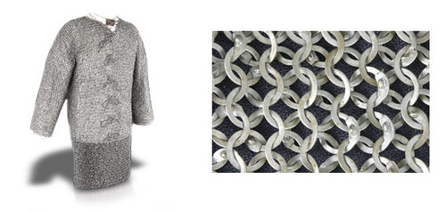 """Chainmail Hauberk, Count Grade 48"""" Chest - Code 2 by GDFB"""