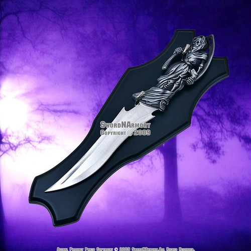 "15 "" Grim Reaper Fantasy Dagger with Plaque"
