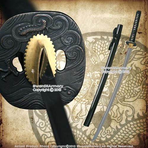 Musha Sea Dragon Folded 1045 Steel Samurai Katana Sword Through Harden Sharp