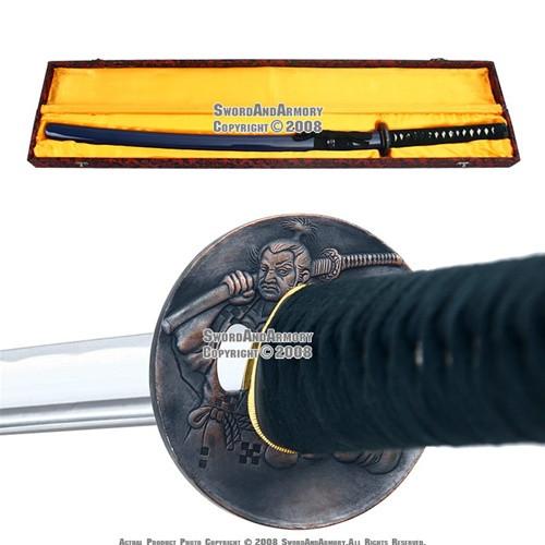 Oda Nobunaga Daimyo Handmade Samurai Katana Sword Blue