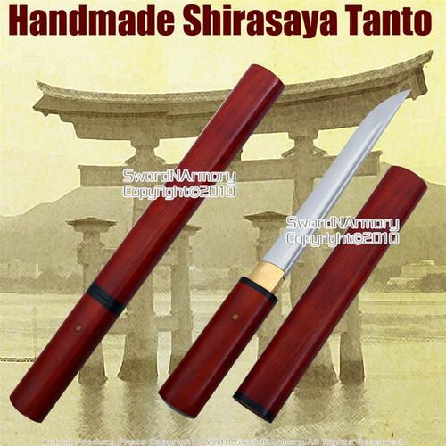Shirasaya Tanto Handmade Japanese Samurai Sword Sharp 1