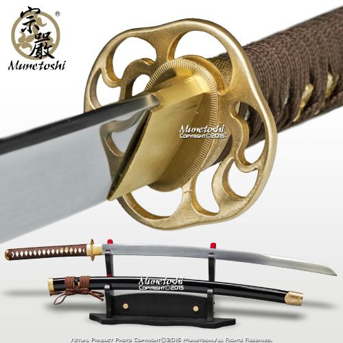 3rd Gen Munetoshi Competition Samgakdo Korean Sword Katana 1065 Heat Treat Blade