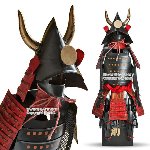 "15.5"" High Kuroda Clan Shogun Japanese Samurai Armor Miniature Statue"