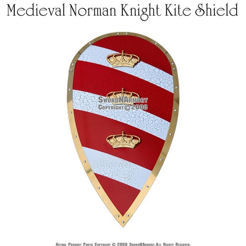 Medieval Norman Knight Kite Shield Saxon King Arthur