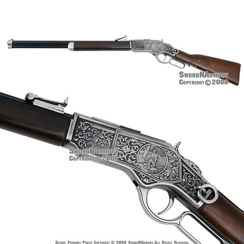 Replica Winchester Lever Action 1873 Engraved Rifle