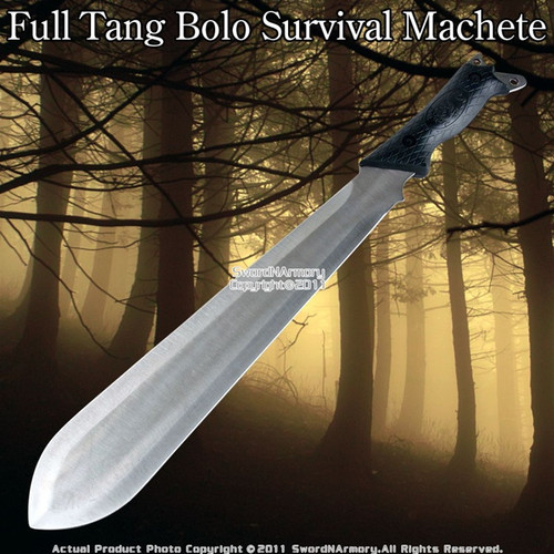 "18"" Bolo Survival Jungle Machete Sword Dagger W/ Sheath"