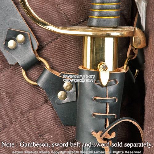 Medieval Renaissance Genuine Leather Waist Shoulder Sword Belt Frog Hanger LARP
