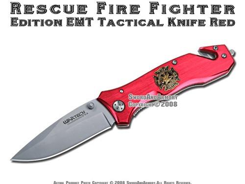 Rescue Fire Fighter EMT Pocket Folding Tactical Knife