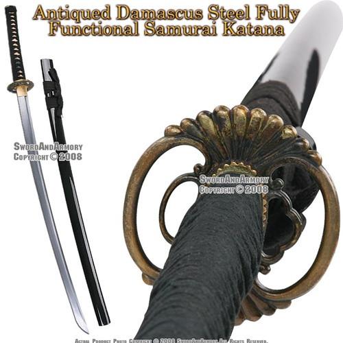 Musashi Brand Damascus Steel Handmade Samurai Katana Sword
