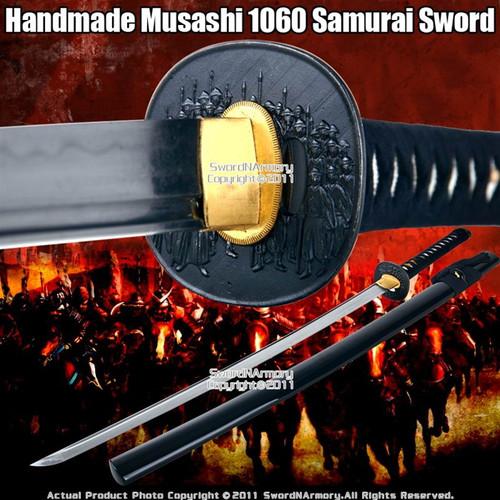 Handmade Musashi Brand 1060 Steel Katana Samurai Sword 47 Ronin