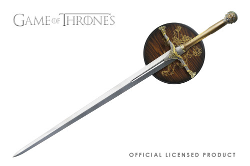 Official Licensed Game of Thrones Jaime Lannister Sword with Display Plaque