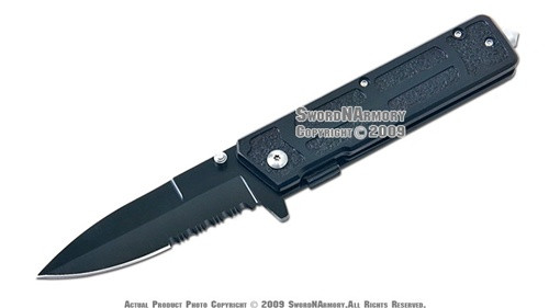 Spring Assisted Emergency Drop Point Tactical Folder Knife