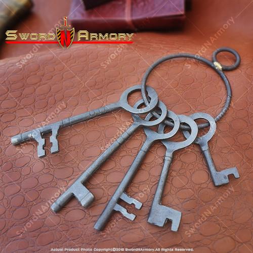 Antiqued Medieval Padlock Keys