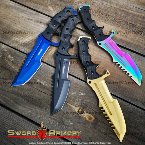 Tactical Bowie Fixed Blade Knife