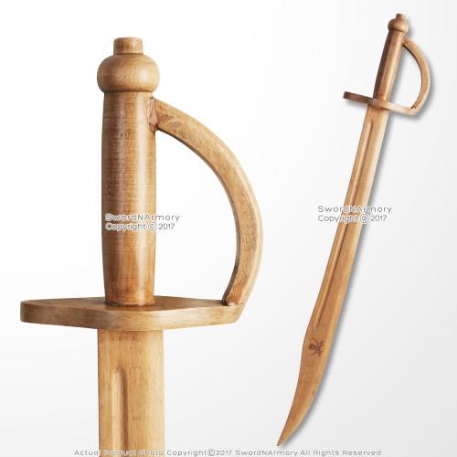 Wooden Caribbean Pirate Sword Cutlass Play Prop