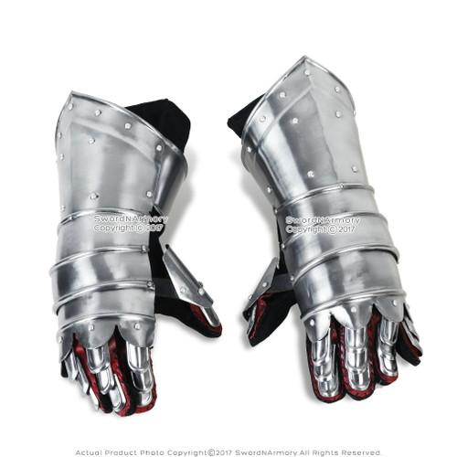 Medieval Knight Gauntlets Functional Steel Armor Gloves  20G Steel SCA LARP