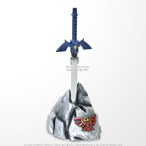 Legend of Zelda Hylian Blue Master Sword  Fantasy Letter Opener Display Stand For Desk/ Home Decor