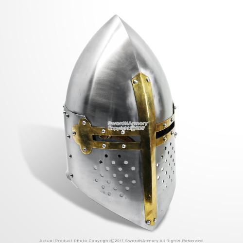 Medieval Sugar loaf Helmet Functional Steel Armor Renaissance Reenactment LARP SCA