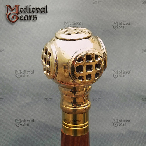 Nautical Diver's Helmet Walking Stick, Walking cane