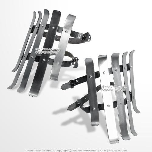 Medieval Functional Bracers Strips Armour Type C 16G Steel SCA LARP Reenactment