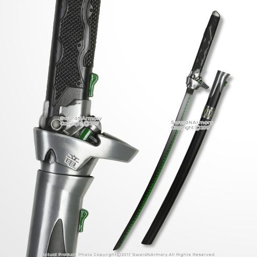 """41""""  Genji Green Shimada Sword OverWatch Steel Cosplay LARP Reenactment"""
