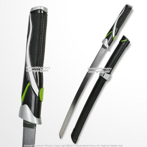 Genji Shimada Green Wakizashi Short Katana Sword Steel Blade Video Game Weapon