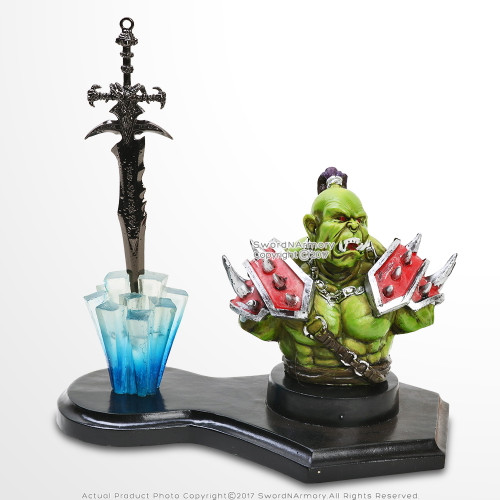 Green Goblin War Lord Fantasy Letter Opener Display Stand For Desk/ Home Decor