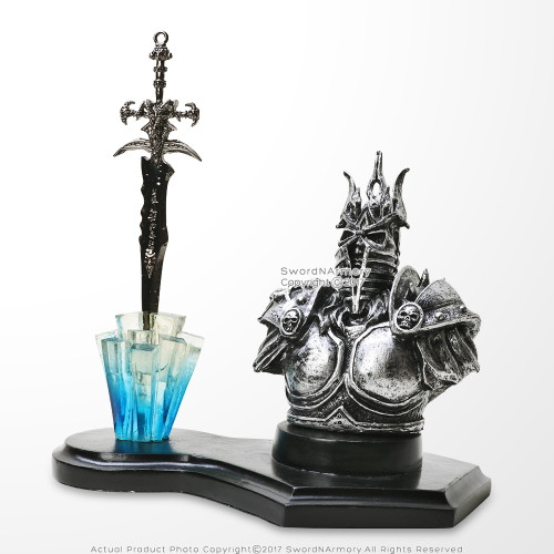 Demon Knight Fantasy Letter Opener Display Stand For Desk/ Home Decor