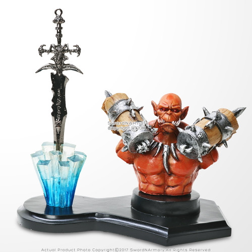 Orange Goblin Fantasy Letter Opener Display Stand For Desk/ Home Decor