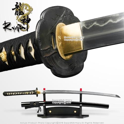 Ryujin 1095 DH Blade Hand Forged Samurai Katana Sword with Fugaku Dragon Tsuba