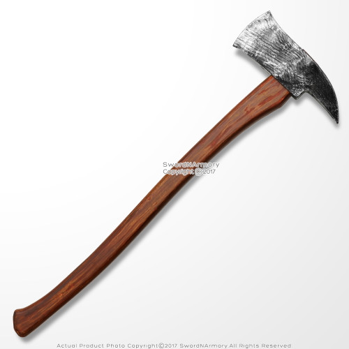 "27"" Lumberjack Woodmans Toy Foam Axe Man Axemen LARP Weapon Costume Movie Prop"