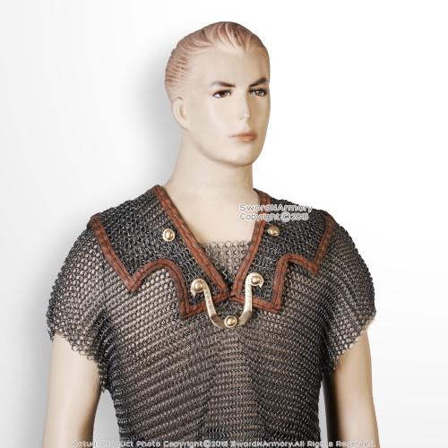 Roman Lorica Hamata Medieval Chainmail Armor Renaissance Costume LARP