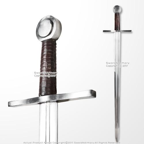 Handmade Peened Full Tang Norman Crusader Arming Sword Sharp Carbon Steel Blade