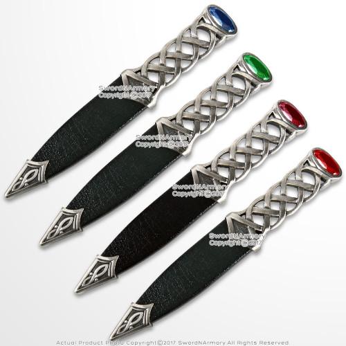 """7"""" Silver Scottish Fantasy Dirk Knife Small Scotland Dagger"""