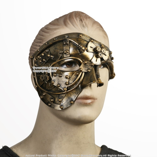 Steampunk Phantom Masquerade Mask Wearable Cosplay Costume Events Prop