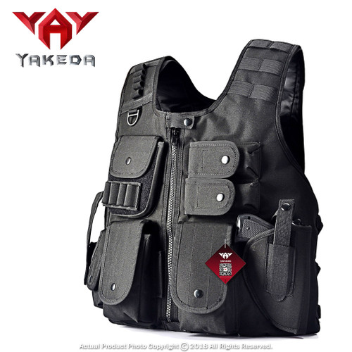 Tactical Vest Law Enforcement Airsoft Paintball Armor Jacket BK