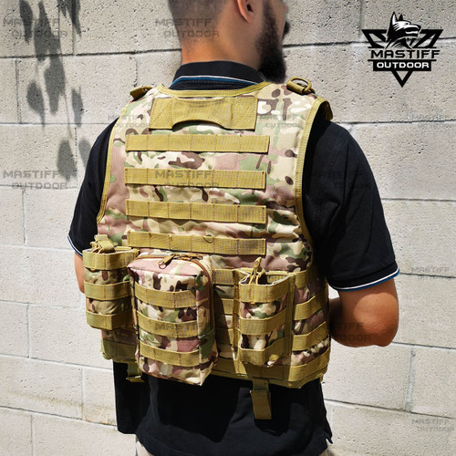 Tactical Vest Armor Plate Carrier Airsoft Paintball Combat Jacket
