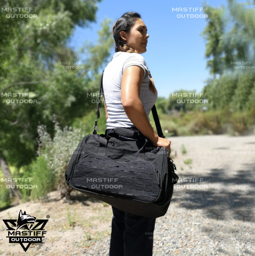 Mastiff Outdoor Tactical Duffel Bag 1000D Nylon MOLLE Military Travel Duffel
