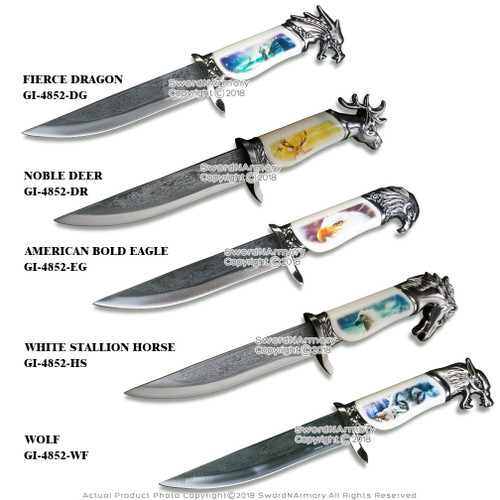 "13.5"" Fantasy Dagger Bowie Gift Knife with Scabbard Souvenir"