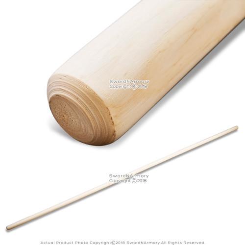 """76"""" Natural White Wax Wood Bo Staff Martial Arts"""