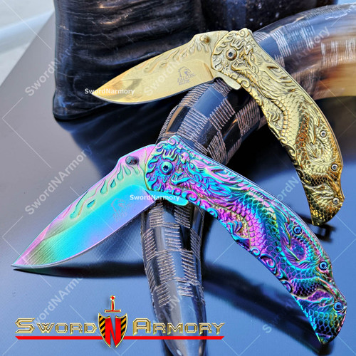 Dragon Falcon Elite Spring Assisted Tactical Pocket Knife