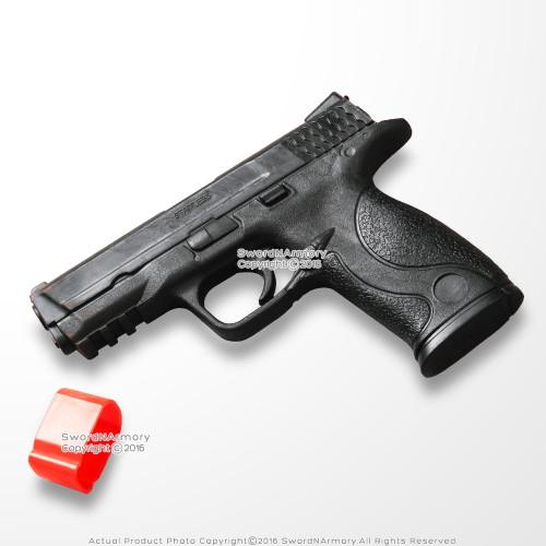 """Full Size Rubber 7.5"""" Training Martial Arts Pistol P226 Handgun with Orange Cap"""