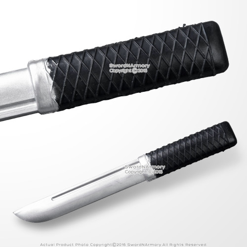 "Functional Polypropylene Rubber  9.5"" Martial Arts Combat Training Tanto Knife"